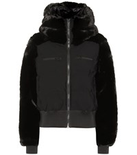 Fusalp Chesery Faux Fur Short Ski Jacket Black