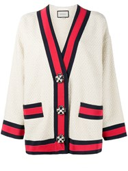 Gucci Embellished Oversized Cardigan Nude Neutrals