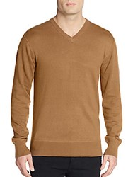 Life After Denim Tournament Cotton And Cashmere V Neck Sweater Broome