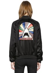 Saint Laurent Satin Teddy Jacket W Glitter Shark Patch