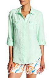 Tommy Bahama Two Palms Linen Camp Shirt Green