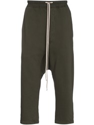 Rick Owens Drkshdw Cropped Track Pants With Drop Crotch Black