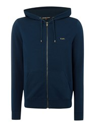 Michael Kors Fleece Lined Zip Through Hoodie Navy