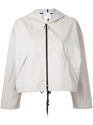 Cityshop Hooded Bomber Jacket Women Cotton Nylon Polyester One Size Nude Neutrals