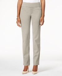 Charter Club Cambridge Pull On Slim Leg Jeans Created For Macy's Creme Stone