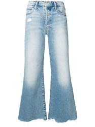 Mother Wide Leg Jeans Blue