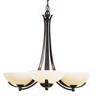 Hubbardton Forge Aegis 3 Arms Chandelier Brown