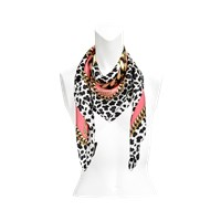 Marc Jacobs 90X90 Leopard And Chains Scarf