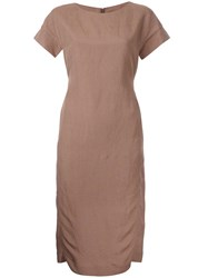 Strasburgo Classic Fitted Dress Brown