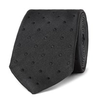 Dolce And Gabbana 6Cm Dot Silk Jacquard Tie Navy