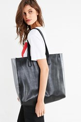 Urban Outfitters Clear Gusset Tote Bag Black