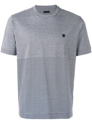 Z Zegna Striped T Shirt Grey