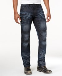 Inc International Concepts Men's Slim Fit Dark Wash Moto Jeans Only At Macy's