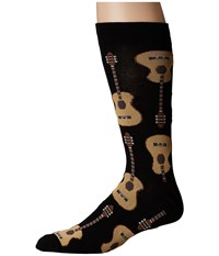 Socksmith Guitars Black Crew Cut Socks Shoes