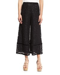 See By Chloe Lace Trim Velour Culottes Black