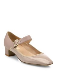 Valentino Plain Two Tone Leather Mary Jane Pumps Poudre