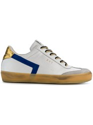 Leather Crown Colour Block Sneakers White