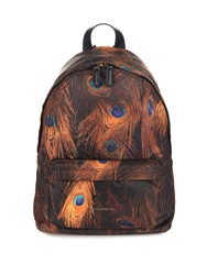 Givenchy Peacock Print Nylon And Leather Backpack