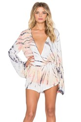 Blue Life New Boho Romper Yellow