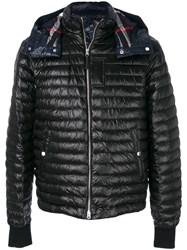 Burberry Hooded Padded Coat Cotton Polyamide Goose Down Black