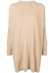 Dusan Oversized Sweater Dress Nude And Neutrals