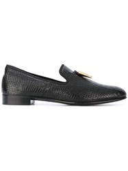 Giuseppe Zanotti Design Spacey Slippers Cotton Calf Leather Leather Black