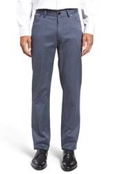 Vince Camuto Men's Sraight Leg Five Pocket Stretch Pants Indigo Cavalry Twill