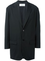 Julien David Two Button Blazer Coat Black