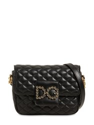 Dolce And Gabbana Small Millennial Quilted Leather Bag Black