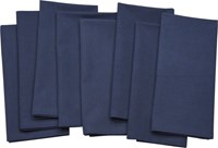 Cb2 Set Of 8 Poplin Dusk Napkins