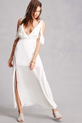 Forever 21 Indikah Belted Maxi Dress White