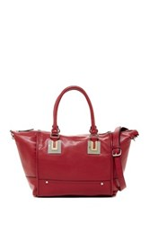French Connection Arden Faux Leather Convertible Shoulder Bag Red