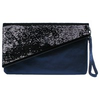 Miss Kg Hallie Clutch Bag Black Blue