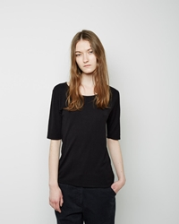 La Garconne Moderne The New Didion Rib Tee Black