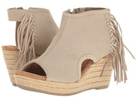 Minnetonka Blaire Stone Suede Women's Wedge Shoes Gray