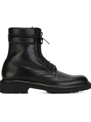 Saint Laurent Military Style Boots Black
