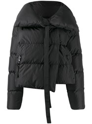 Bacon Oversized Collar Down Jacket Black