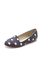 Anniel Heart Smoking Slippers Hearts Black