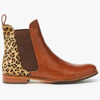 Joules Westbourne Leather Chelsea Boots Leopard