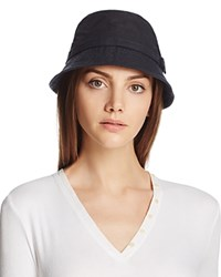 Barbour Cairn Waxed Cotton All Weather Trench Hat Navy