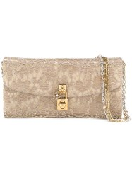 Dolce And Gabbana 'Dolce' Clutch Nude And Neutrals