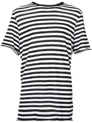 Amiri Striped T Shirt Men Cotton Cashmere Xl Black
