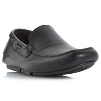 Bertie 'Blue Sky' Leather Driving Loafers Black