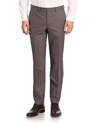Saks Fifth Avenue Modern Slim Fit Wool Trousers Grey