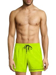 Danward Elasticated Swim Shorts Red Lemon