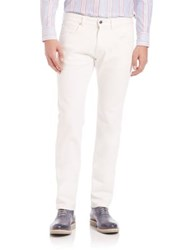 Faconnable Flat Front Pants Off White