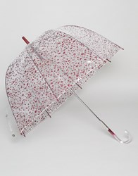 Lulu Guinness Birdcage Umbrella In Cut Out Spot Print Roughly Cut Out Spo Multi