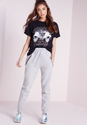 Missguided Zip Detail Joggers Grey Grey