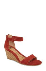 6f73a78a9db Sofft Marla Wedge Sandal Brick Red Leather