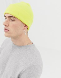 Weekday Hero Knit Beanie In Yellow